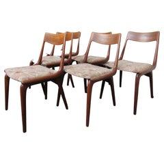 Set of Six Mid-Century Modern Teak Chairs