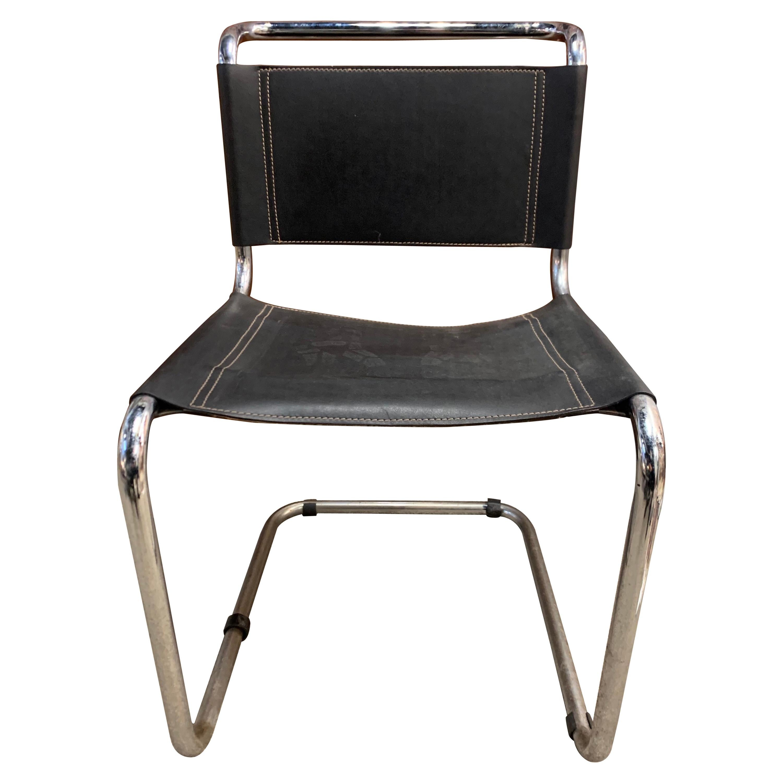 Set of Six Mid-Century Modern Tubular Chrome Cantilever Chairs