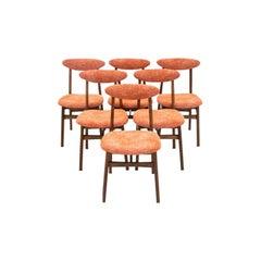 Set of Six Midcentury Retro Dining Chairs, by Rajmund Halas, Model 200-190