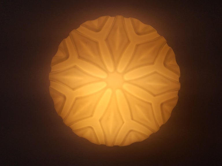 Late 20th Century Set of Six Midcentury Wall or Ceiling Lamps, Flushmount, 1970s For Sale