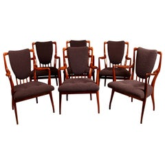Set of Six Midcentury Dining Chairs by Andrew J Milne, for Heals, London
