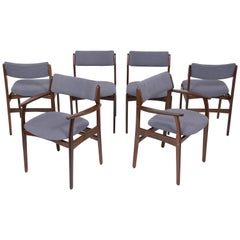 Set of Six Mid Century Modern Teak Dining Chairs