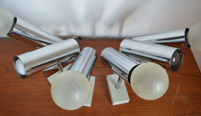 Mid-Century Modern Set of Six Midcentury Wall Lamp Sconces Staff Leuchten, Motoko Ishii, 1970s For Sale