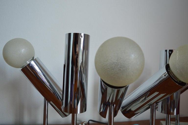 Late 20th Century Set of Six Midcentury Wall Lamp Sconces Staff Leuchten, Motoko Ishii, 1970s For Sale