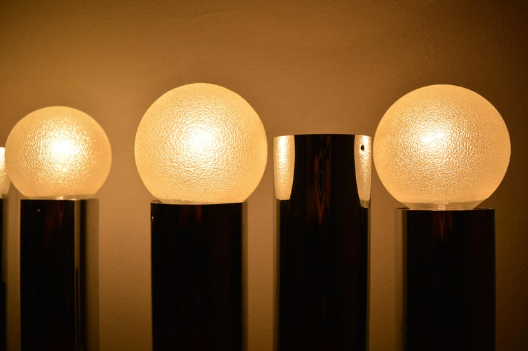 Set of Six Midcentury Wall Lamp Sconces Staff Leuchten, Motoko Ishii, 1970s For Sale 2