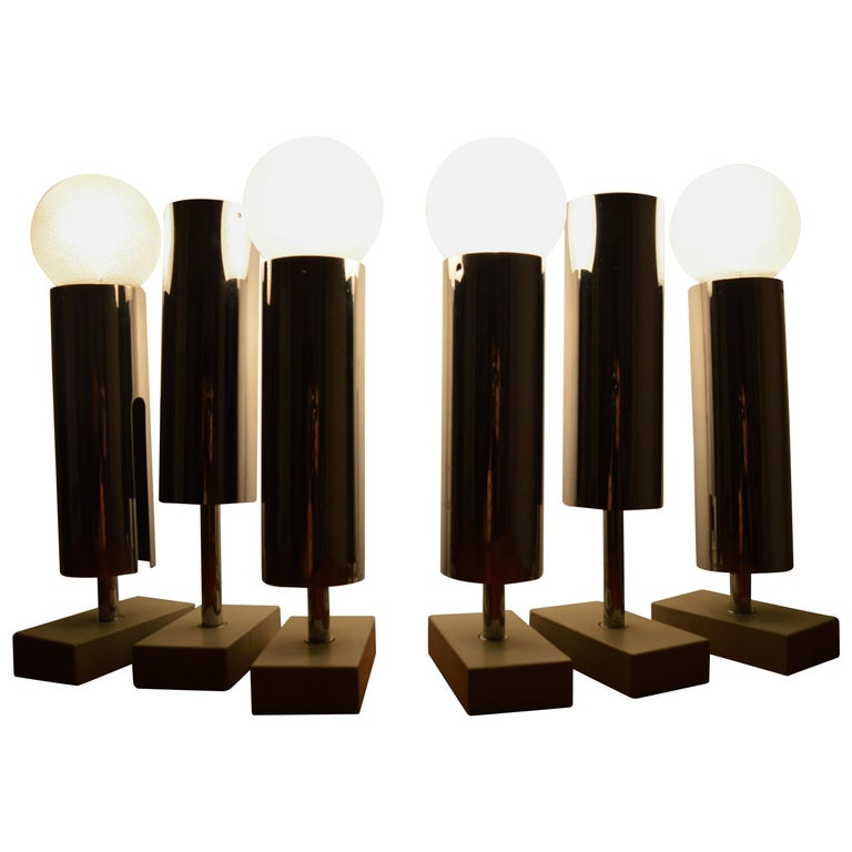 Set of Six Midcentury Wall Lamp Sconces Staff Leuchten, Motoko Ishii, 1970s For Sale
