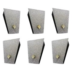 Set of Six Midcentury Wall Sconces, 1960-1970