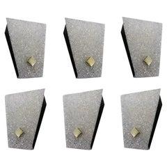 Set of Six Midcentury Wall Sconces, 1960-1970
