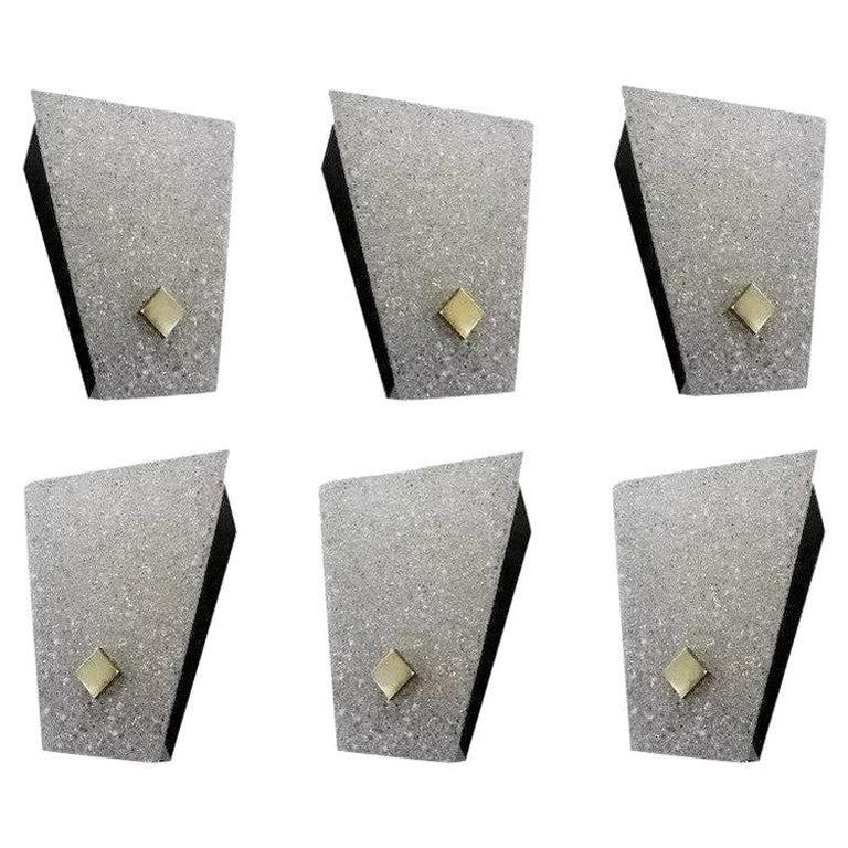 Set of Six Midcentury Wall Sconces, 1960-1970 For Sale