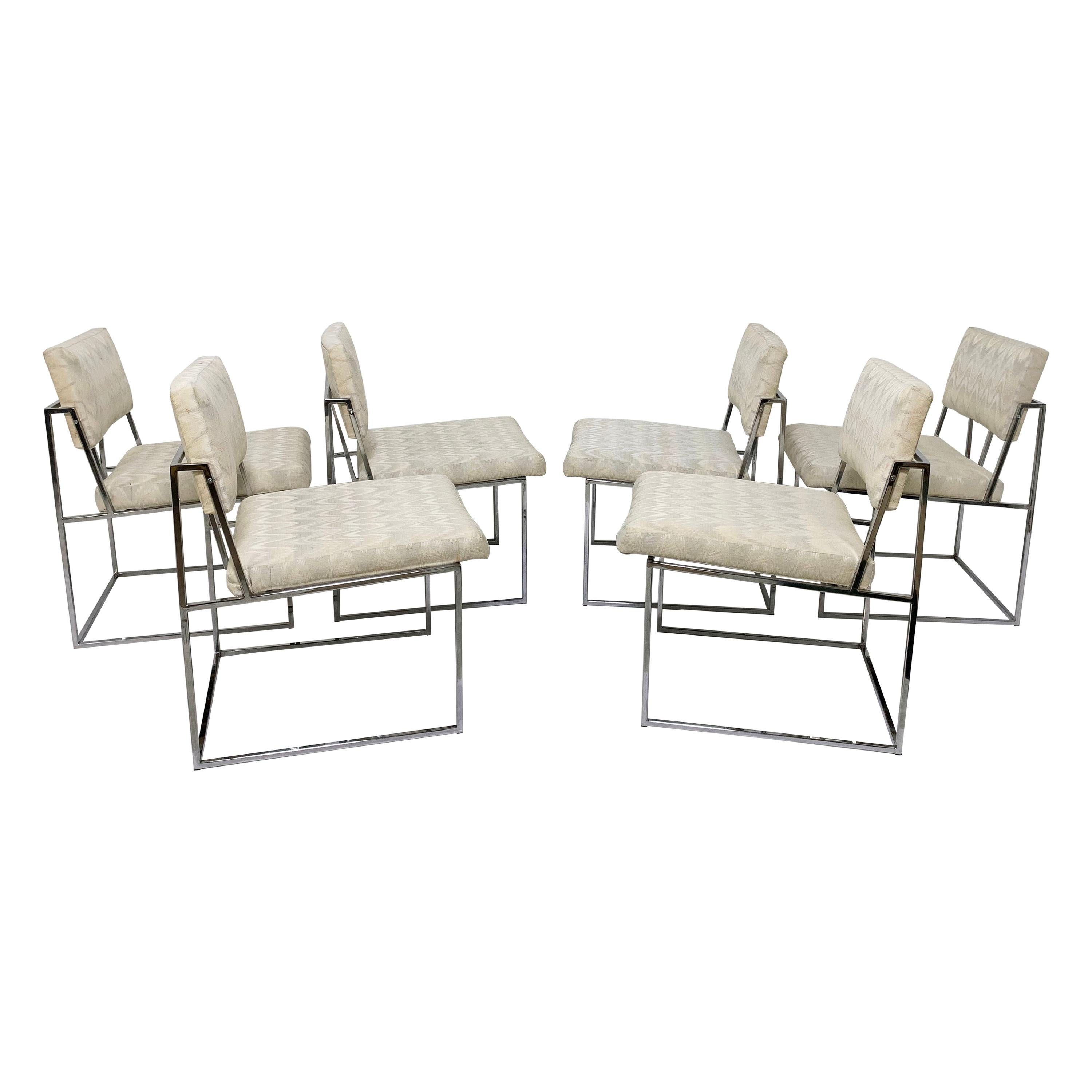 Set of Six Milo Baughman for Thayer Coggin Dining Chairs, circa 1960s