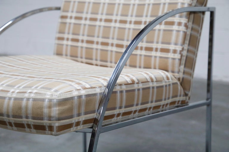 Set of Six Milo Baughman for Thayer Coggin Thinline Chrome Dining Chairs, 1970s For Sale 5