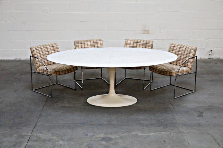 Set of Six Milo Baughman for Thayer Coggin Thinline Chrome Dining Chairs, 1970s For Sale 12