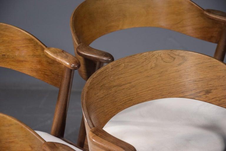 Origin: Denmark Designer: Kai Kristiansen Manufacturer: Korup Stolefabrik Era: 1960s Materials: Rosewood Measurements:21? wide x 21? deep x 29.5? tall Seat: 18? wide x 17? deep x 17.5? tall   Condition: Chair frames in excellent original