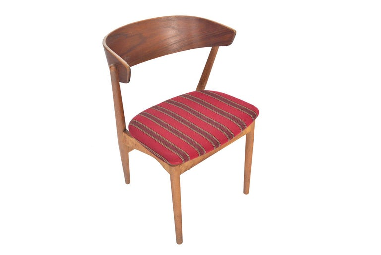 Set of Six Model 7 Helge Sibast Teak and Oak Danish Modern Dining Chairs In Good Condition For Sale In Berkeley, CA