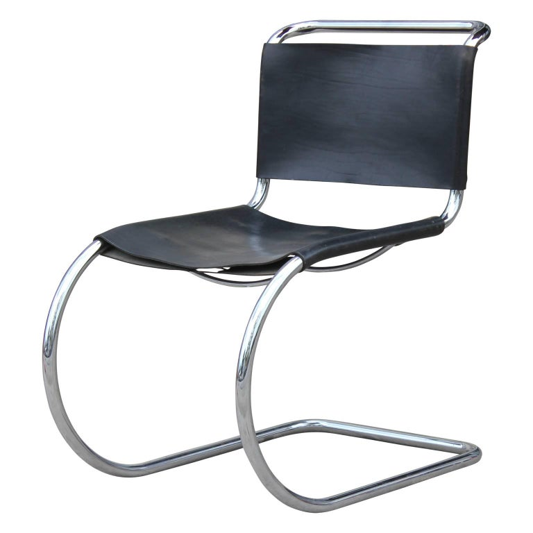 Astounding Set Of Six Modern Black Leather And Chrome Knoll Style Caraccident5 Cool Chair Designs And Ideas Caraccident5Info