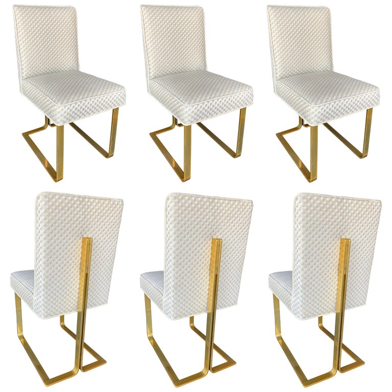 Set of Six Modern Italian Chairs For Sale