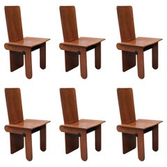 Set of Six Modernist Dining Chairs by Carlo Scarpa for Gavina