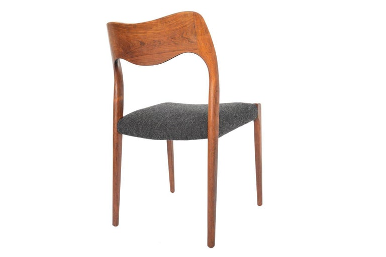 Set of Six Moller Model 71 Midcentury Dining Chairs in Brazilian Rosewood 3