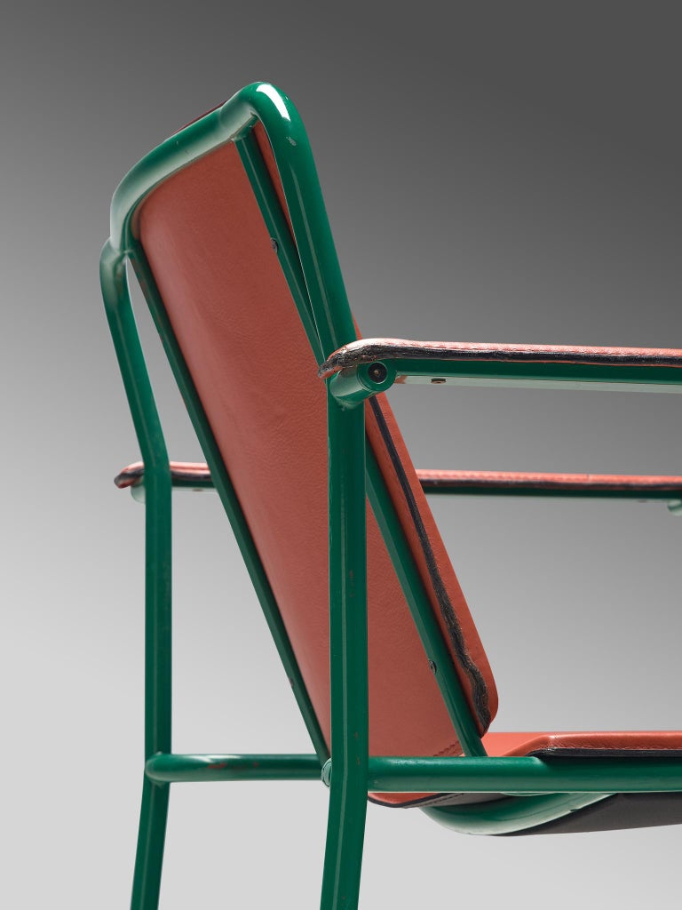 Set of Six 'Movie' Chairs by Mario Marenco for Poltrona Frau For Sale 3