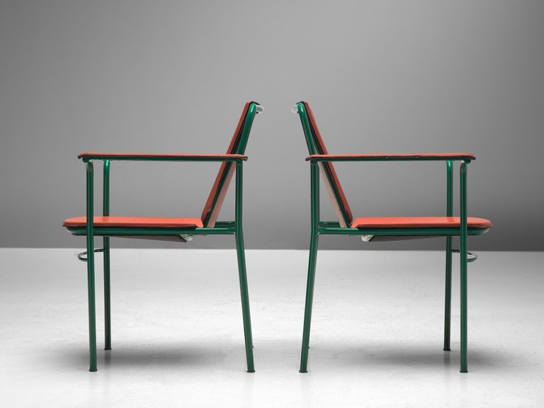 Italian Set of Six 'Movie' Chairs by Mario Marenco for Poltrona Frau For Sale