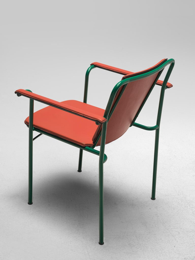 Set of Six 'Movie' Chairs by Mario Marenco for Poltrona Frau For Sale 1
