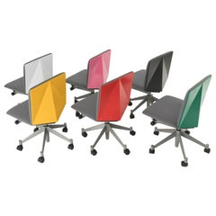 "Set of Six Multicolored ""Kite"" Office Chairs by Norman Foster for Tecno, 1986"