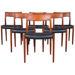 Set of Six N. O. Møller Dining Chairs
