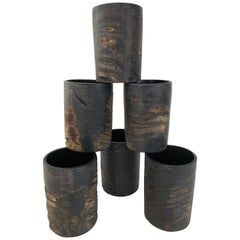 Set of Six Natural Horn Cups