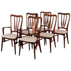 Set of Six Niels Koefoed for Koefoeds Mobelfabrik Dining Chairs