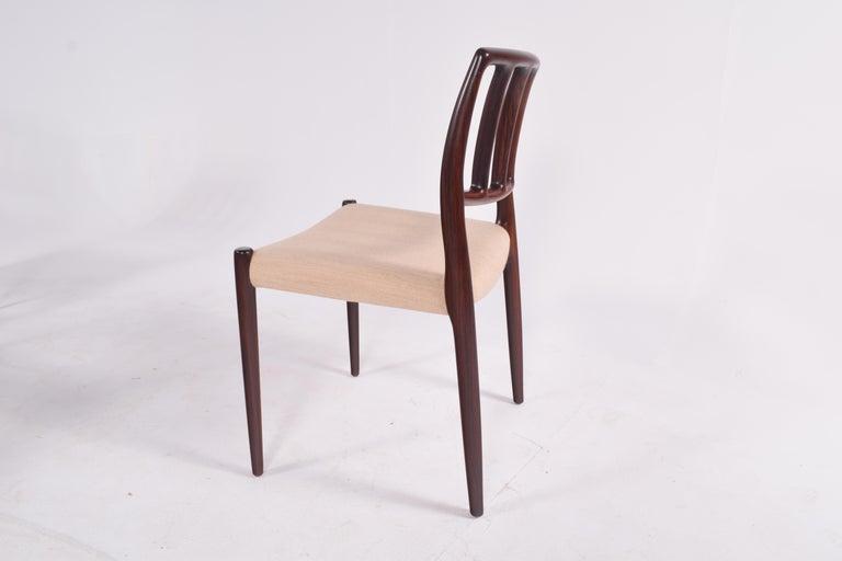 "Set of Six Niels Møller ""Model 83"" Rosewood Dining Chairs for J.L. Møller 5"