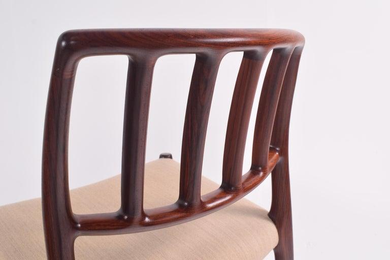 "Set of Six Niels Møller ""Model 83"" Rosewood Dining Chairs for J.L. Møller 7"