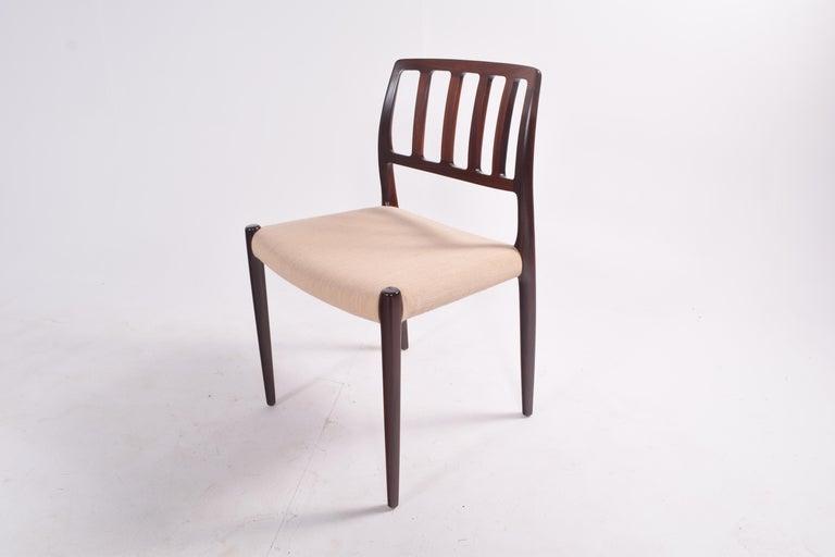 "Set of Six Niels Møller ""Model 83"" Rosewood Dining Chairs for J.L. Møller 8"