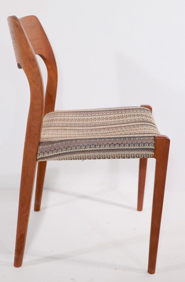 Danish Set of Six Niels Moller Design Dinging Chairs Model 71 by J.L. Mollers Denmark For Sale