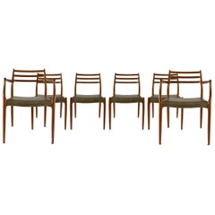 Set of Six Niels Moller Teak Dining Chairs