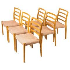 Set of Six Niels O Møller Chairs No.85 in Oak
