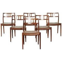 Set of Six Niels O Møller Model 79 Dining Chairs, Denmark, 1960s