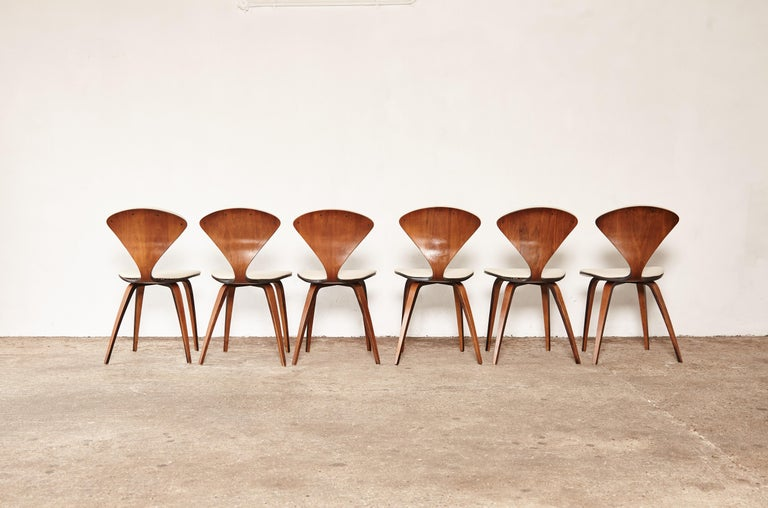 Mid-Century Modern Set of Six Norman Cherner Dining Chairs, Plycraft, USA, 1960s For Sale