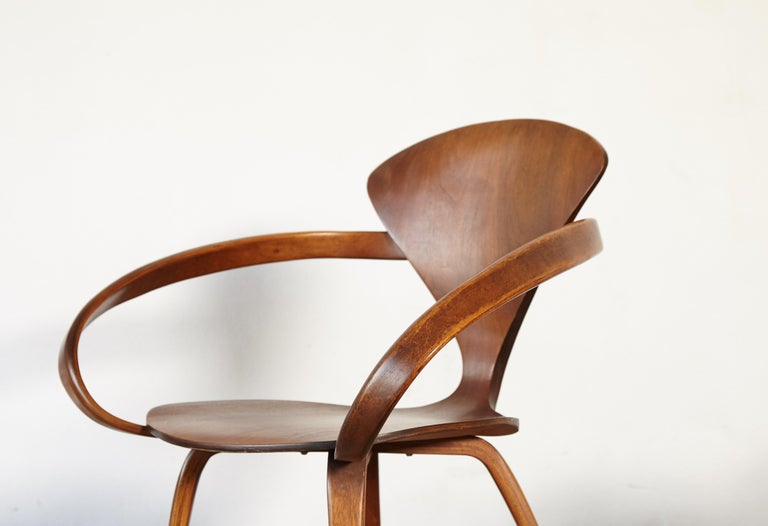 Wood Set of Six Norman Cherner Pretzel Dining Chairs, Made by Plycraft, USA, 1960s For Sale