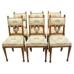 Set of Six Oak Art Nouveau Chairs from Germany
