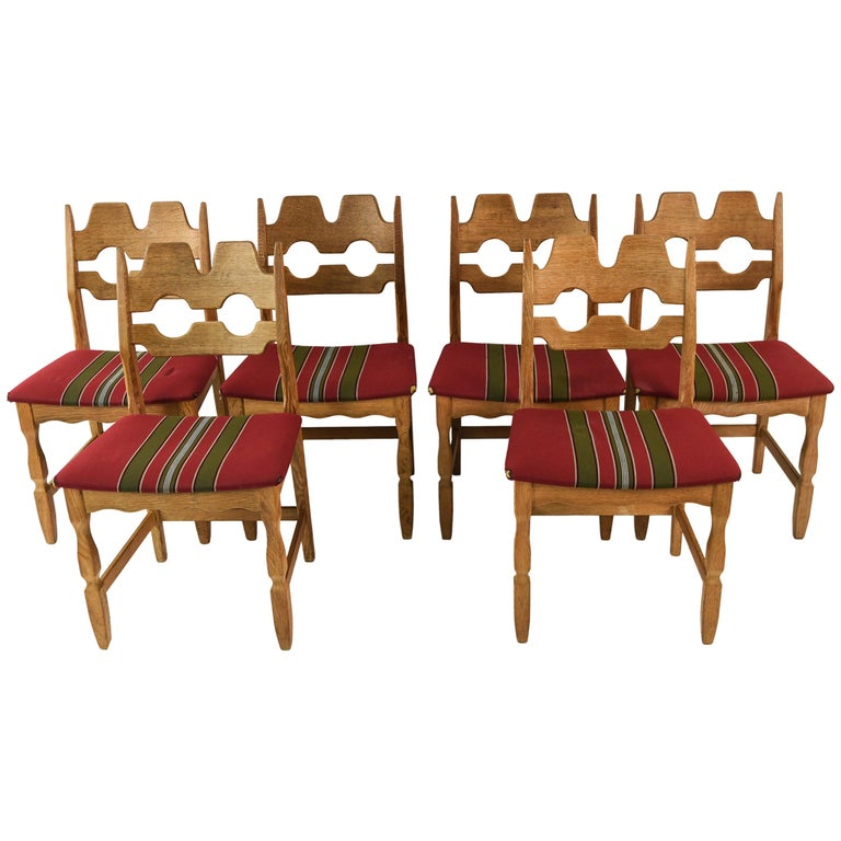 Awe Inspiring Set Of Six Oak Dining Chairs By Henning Kjaernulf 1960S At Caraccident5 Cool Chair Designs And Ideas Caraccident5Info