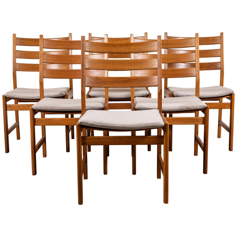 Marvelous Set Of Six Oak Dining Chairs By Kurt Ostevig For Kp Mobler Caraccident5 Cool Chair Designs And Ideas Caraccident5Info