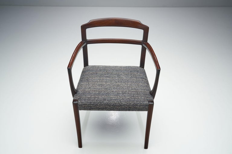 Set of Six Ole Wanscher Dining Chairs for A. J. Iversen, Denmark, 1960s For Sale 4