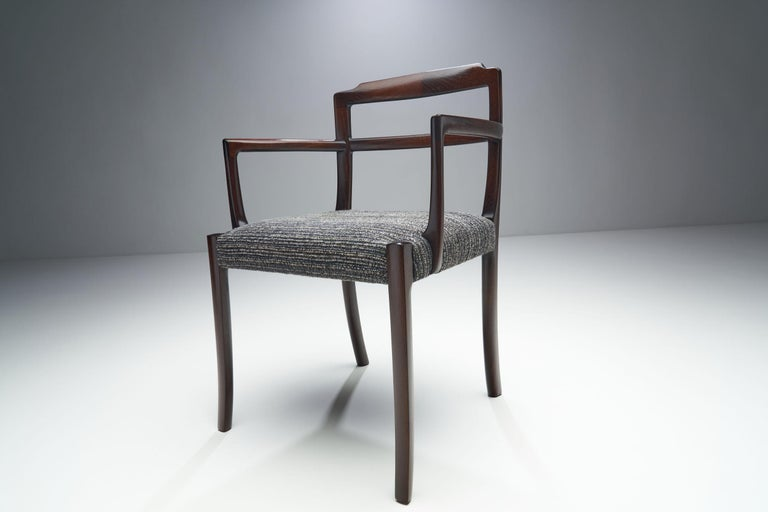 Set of Six Ole Wanscher Dining Chairs for A. J. Iversen, Denmark, 1960s For Sale 5
