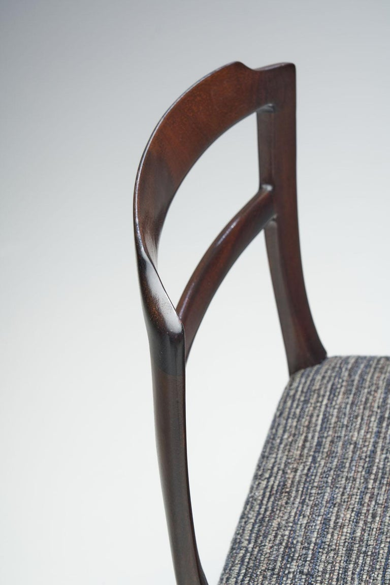 Set of Six Ole Wanscher Dining Chairs for A. J. Iversen, Denmark, 1960s For Sale 9