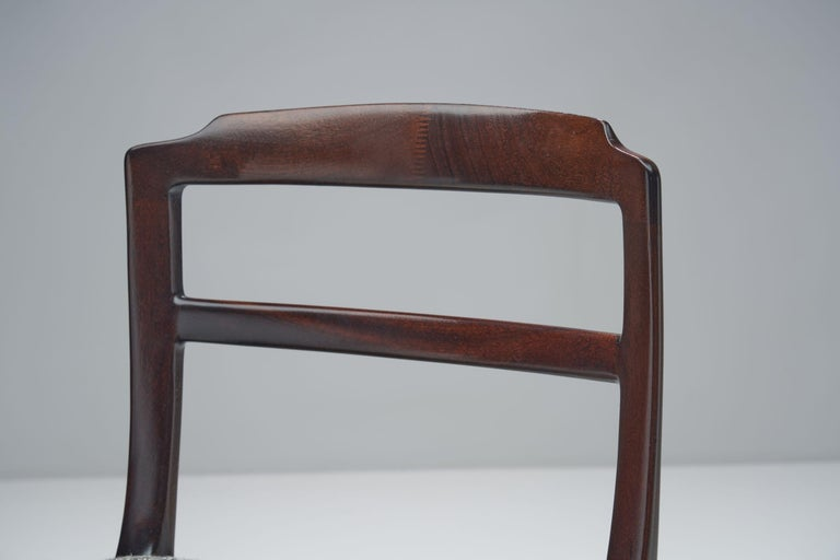 Set of Six Ole Wanscher Dining Chairs for A. J. Iversen, Denmark, 1960s For Sale 11