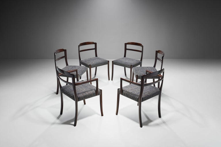 Danish Set of Six Ole Wanscher Dining Chairs for A. J. Iversen, Denmark, 1960s For Sale