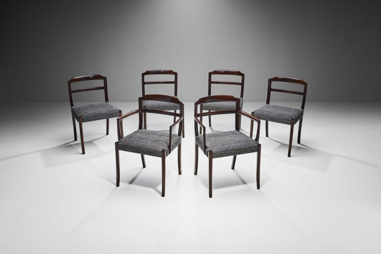 Set of Six Ole Wanscher Dining Chairs for A. J. Iversen, Denmark, 1960s In Good Condition For Sale In Utrecht, NL