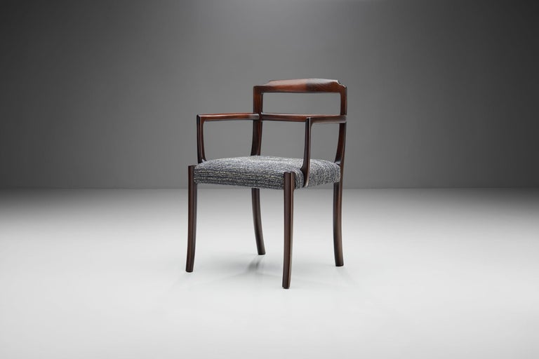 Mid-20th Century Set of Six Ole Wanscher Dining Chairs for A. J. Iversen, Denmark, 1960s For Sale