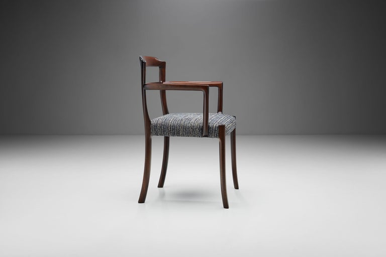 Mahogany Set of Six Ole Wanscher Dining Chairs for A. J. Iversen, Denmark, 1960s For Sale