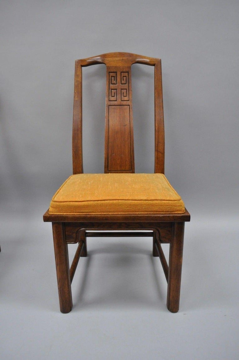 Set of Six Oriental James Mont Style Dining Chairs by Century Mid-Century Modern In Good Condition For Sale In Philadelphia, PA
